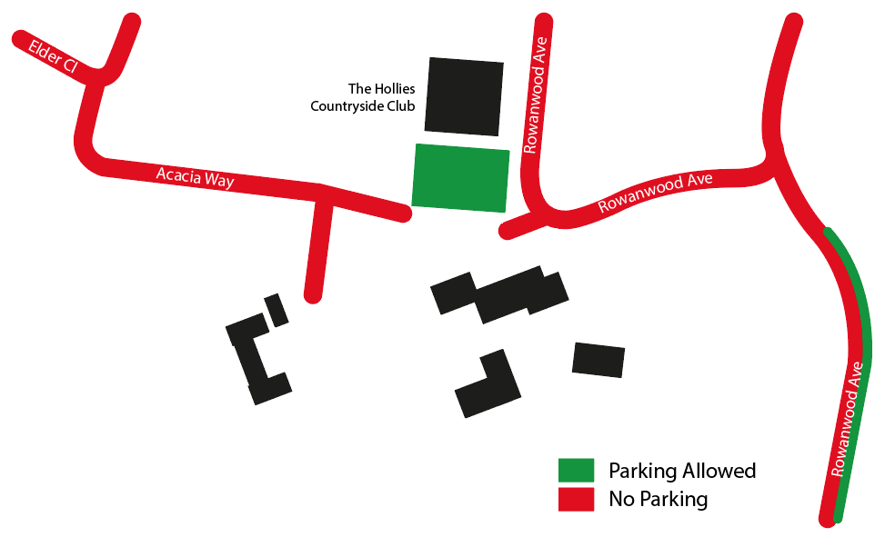 hollies parking map